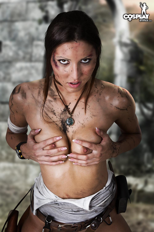 Lara croft naked real think