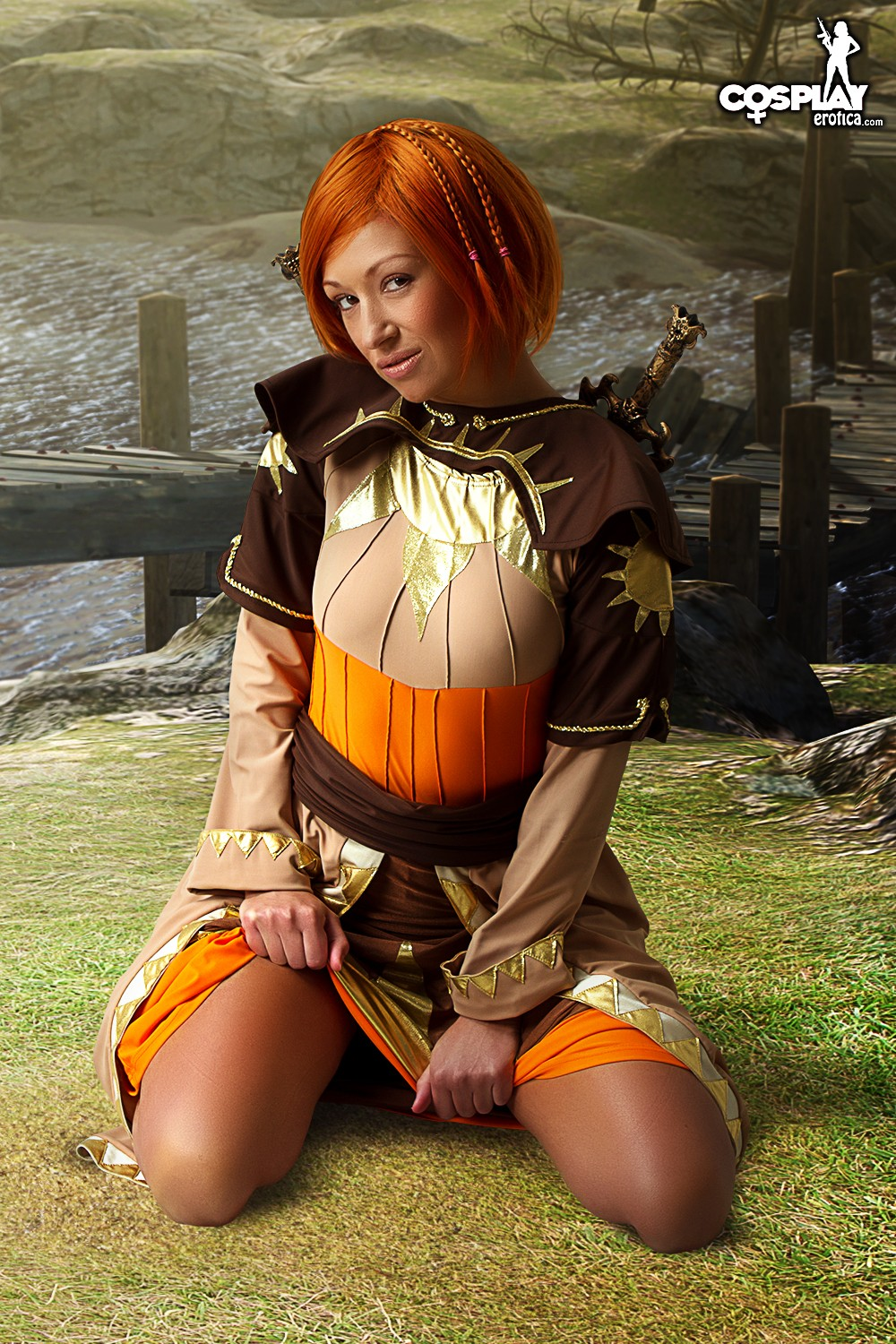 CosplayErotica - Leliana (Dragon Age: Origins) nude cosplay