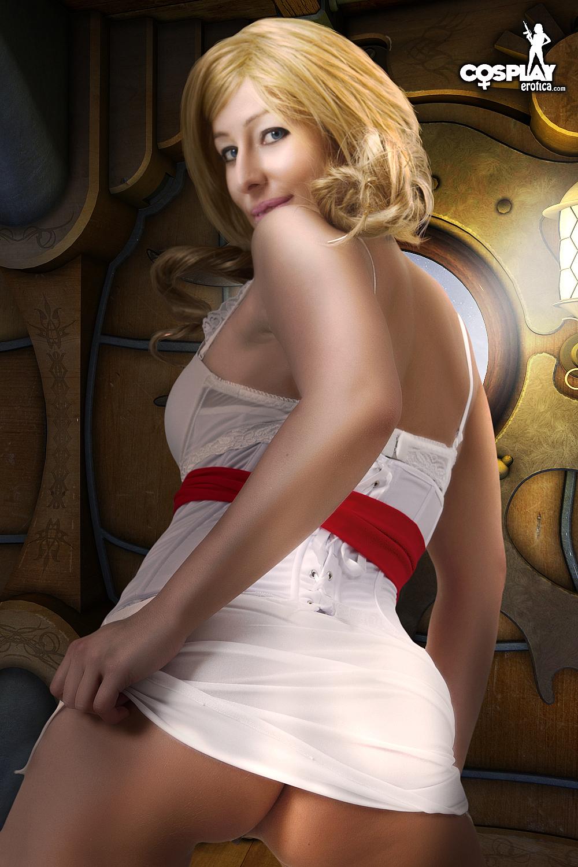 Busty milf sheer dress